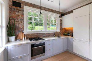Red Brick Homely Kitchen Design