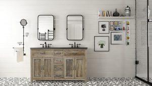 Floral Tiling Bathroom